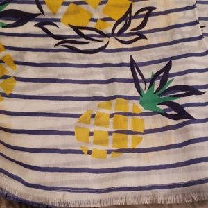 Long silk/cotton scarf. NWT pineapple scaft